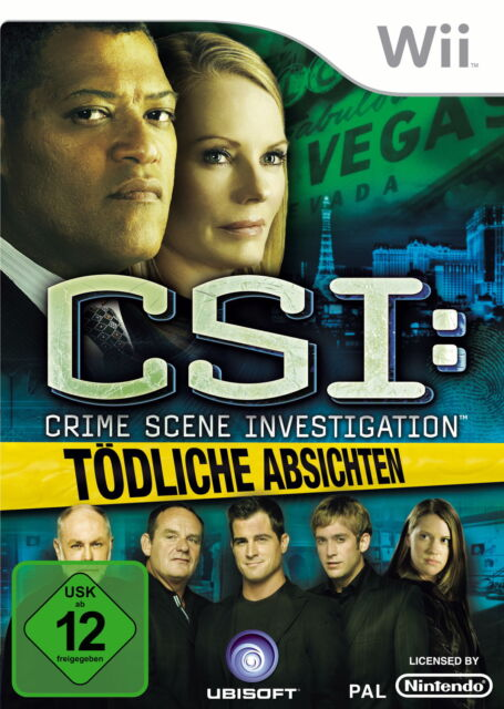 CSI:Crime Scene Investigation-Tödliche Absichten(Nintendo Wii, 2009, DVD-Box)