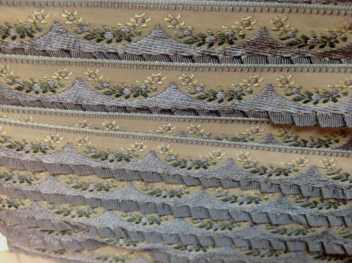 """VINTAGE NOVELTY 5//8/"""" TRIM RUFFLE EDGE 1yd DOLLS Childs Made in France Gathered"""