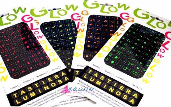 Adesivi Fluorescenti per tastiera del computer PC