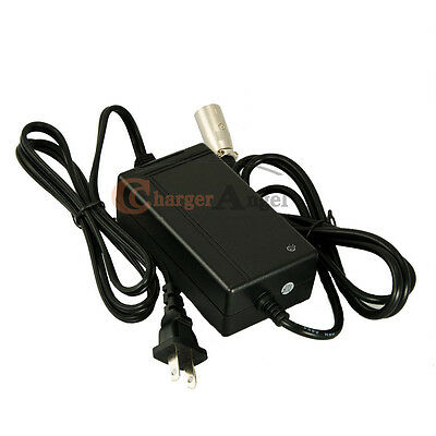 24V 1.8A XLR Mobility Scooter Charger For Jazzy Power Chair
