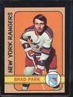 1972 Topps Brad Park #30 Hockey Card