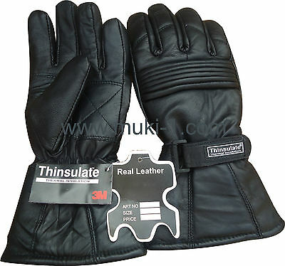 Thermal Motorbike Motorcycle Leather Gloves  Protection Winter Summer R A X