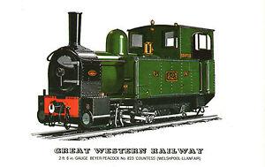WELSHPOOL-LLANFAIR-GWR-RAILWAY-LOCOMOTIVE-POSTCARD-BY-PRESCOTT-PICKUP-b