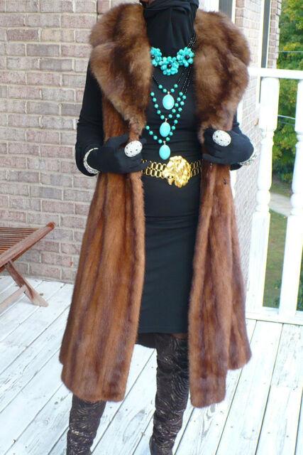Swing Pierre Balmain Russian Sable & mink Fur Vest coat stroller S or Sz 0-8