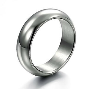 0.28 WIDE Concise Titanium Steel Ring Size #(7 8 9 10 11) RING BOX JZ138