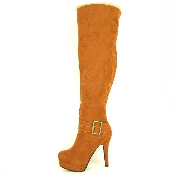 Women's Over The Knee / Knee High Platform Boots with Fur Trim, Booties, 6-10US