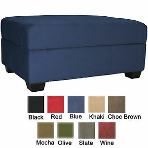 Attractive Image Is Loading Storage Bench And Ottoman Microfiber Suede Or Faux