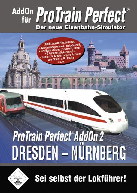 ProTrain Perfect Addon 2 - Dresden - Nürnberg (PC, 2006, DVD-Box)