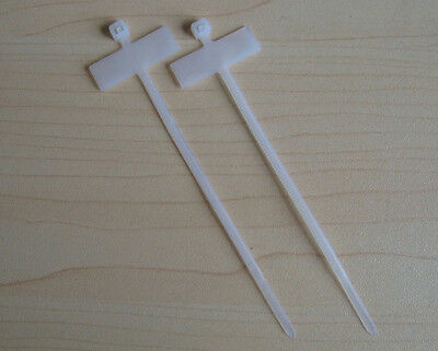"""100 PCS 4"""" 25*8mm marker cable tie zip wire straps in white nylon ties"""
