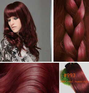 Full head 14 30100 clip in real human hair extensions red wine image is loading full head 14 034 30 034 100 clip pmusecretfo Choice Image