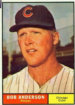 1961 Topps Bob Anderson Chicago Cubs 283 Baseball Card