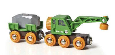 BRIO CLEVER Crane Train Wooden Train Engine Thomas compatible NEW 33698