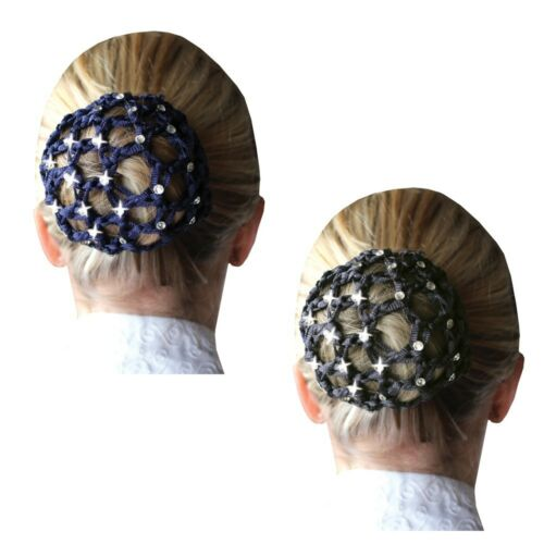 Horse Riding Show Bun Net - Crystal - Navy -  by Equetech