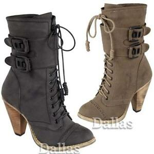 LADIES-HIGH-HEELS-BIKER-BOOTS-WOMENS-GIRLS-ARMY-ANKLE-RIDING-WINTER-SHOES-SIZE
