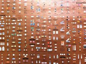 Damien-Hirst-Pharmacy-Bronze-Panel