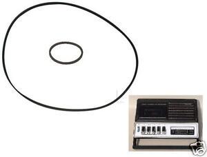 lot: 2 courroies pour magnetphone Philips N2220 N-2220 cassette enregistreur K7