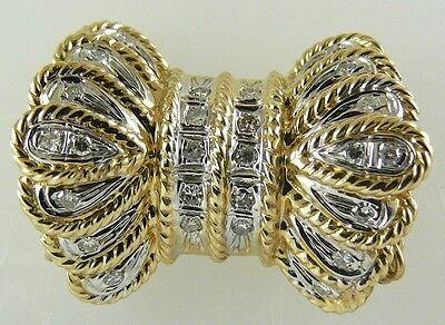 Diamond Bow Clasp 0.20 ct 14k Yellow Gold