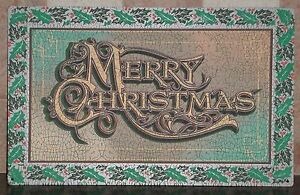 MERRY-CHRISTMAS-Holiday-Textured-Distressed-Look-Metal-Wall-Sign-15-75-034-x-10-034