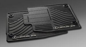 GENUINE-2013-up-LEXUS-ES300H-All-Weather-Floor-Mats-Mat-Black