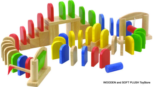 *NEW child's wooden toy KNOCK and FALL educational GAME