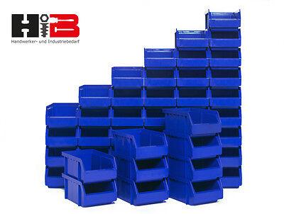 48 blaue Lagerboxen Lagersichtbehälter Stapelboxen in Größe 2 MADE in GERMANY !!