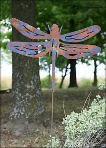 Dragonfly-Metal-Yard-Art-Decor-Sign-Picture-Sculpture-Decoration-Garden-Stake