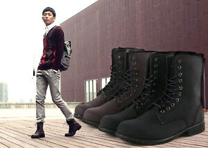 Black-Hot-Mens-Retro-Leather-Combat-Military-Boots-Suede-Lace-Up-Casual-Shoes