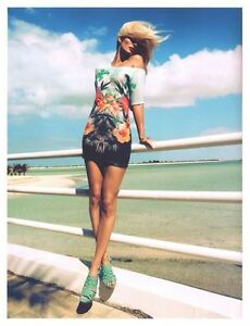 NWT-H-amp-M-2012-Summer-Beach-Collection-Turquoise-Sequin-Patterned-Jersey-Dress