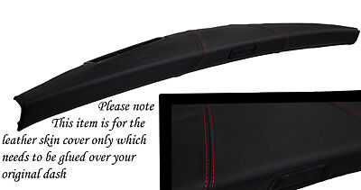 RED STITCH FITS MINI CLASSIC ROVER COPPER AUSTIN DASH LEATHER COVER ONLY