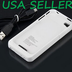 New-White-2500mAh-External-Backup-Battery-Charger-Case-For-Iphone-4-4G-4S