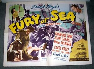 THIS WOMAN IS MINE/FURY AT SEA original movie poster FRANCHOT TONE/JOHN CARROLL