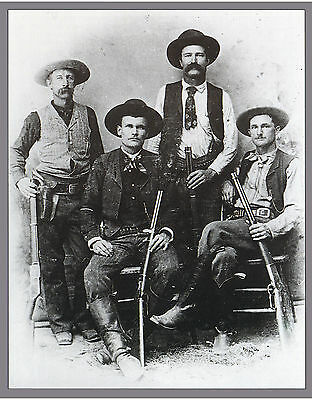"1898 PHOTO The Original Texas Rangers, Rifle, Law, Cowboys, 16""x13"" Portrait"