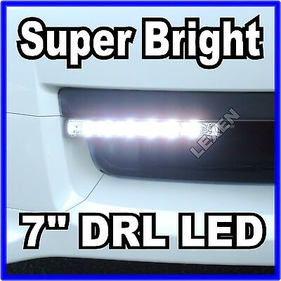 "Slim 7"" DRL LED Xenon White 2PCS Daytime Running Lights High Power DRL L-613 b"