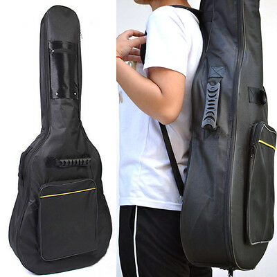 Full Size Padded Black Protective Classical Acoustic Guitar Back Bag Carry Case