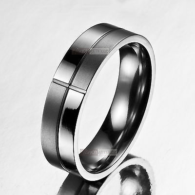 silver ring mens stainless steel us 10 au t 1/2 wedding band engravable solid