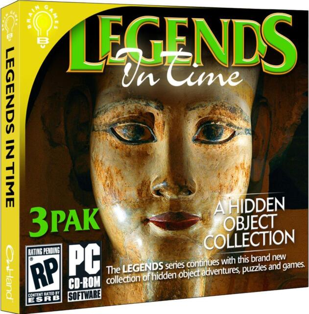 Legends In Time 3 Pak PC Games Windows 10 8 7 XP Computer hidden object pack