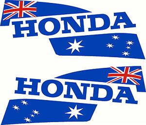 Pair Of Honda Australia Flags Mirrored Motor Hood Fishing Boat - Boat decalsamerican flag boat decals usa flag boat graphics xtreme digital