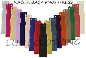 WOMENS-LADIES-JERSEY-MUSCLE-RACER-BACK-MAXI-LONG-VEST-DRESS-SIZE-8-10-12-14-BNWT