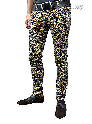 Drainpipes trousers jeans vtg 80s 60s indie mod Leopard print hipsters Skinny