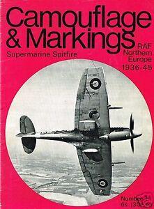 WARBIRD-CAMOUFLAGE-amp-MARKINGS-RAF-WORLD-WAR-II-No-1-SUPERMARINE-SPITFIRE