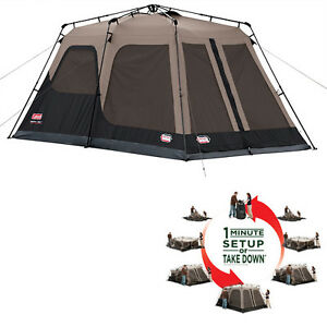NEW-COLEMAN-8-Person-Instant-Tent-2-Rooms-Waterproof-Family-Camping-14-039-x-8-039