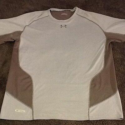 Under Armour Metal Men's HeatGear Shirt Gray/Silver Size Large NWT