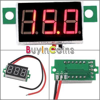 Digital Voltmeter 3.3-30V Red LED Easy Use Vehicles Motor Voltage Meter Accurate