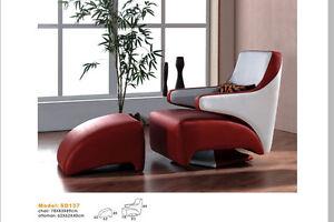 drehbarer design leder sofa relax sessel ledersessel mit hocker 137 ebay. Black Bedroom Furniture Sets. Home Design Ideas