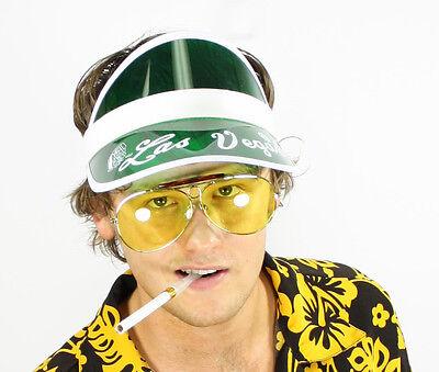 FEAR and LOATHING in LAS VEGAS Raoul Duke GREEN Visor Sunglasses Cigar Costume