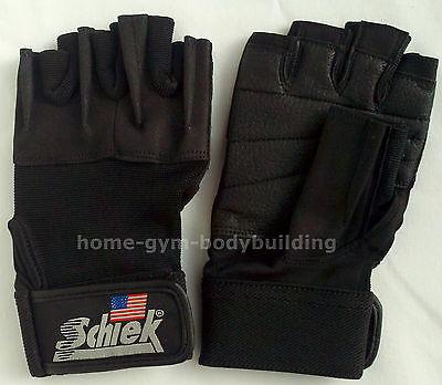 Schiek Model 520 Womens Black Workout Weight Lifting Gloves Velcro Wrist Closure