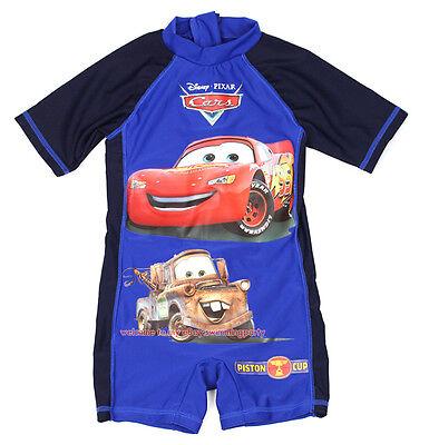 One-Piece Kids Sunsafe Swimsuit Boy Cars Mcqueen & Mater Swimwear Surf 3-8 Years