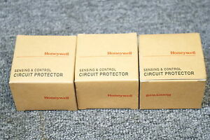 HONEYWELL-SENSING-amp-CONTROL-CIRCUIT-PROTECTOR-GCP-33A-10A-AX-I-LOT-OF-3-NEW