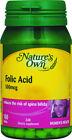 Nature's Own Folic Acid 500mcg 100 Tablets