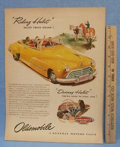 Vintage-Magazine-Ad-Oldsmobile-Hydra-Matic-Drive-Riding-Habit-amp-Driving-Habit